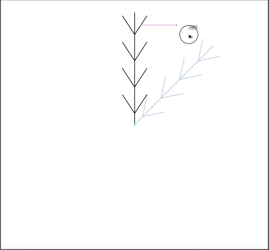 snowflake icon in illustrator step 5