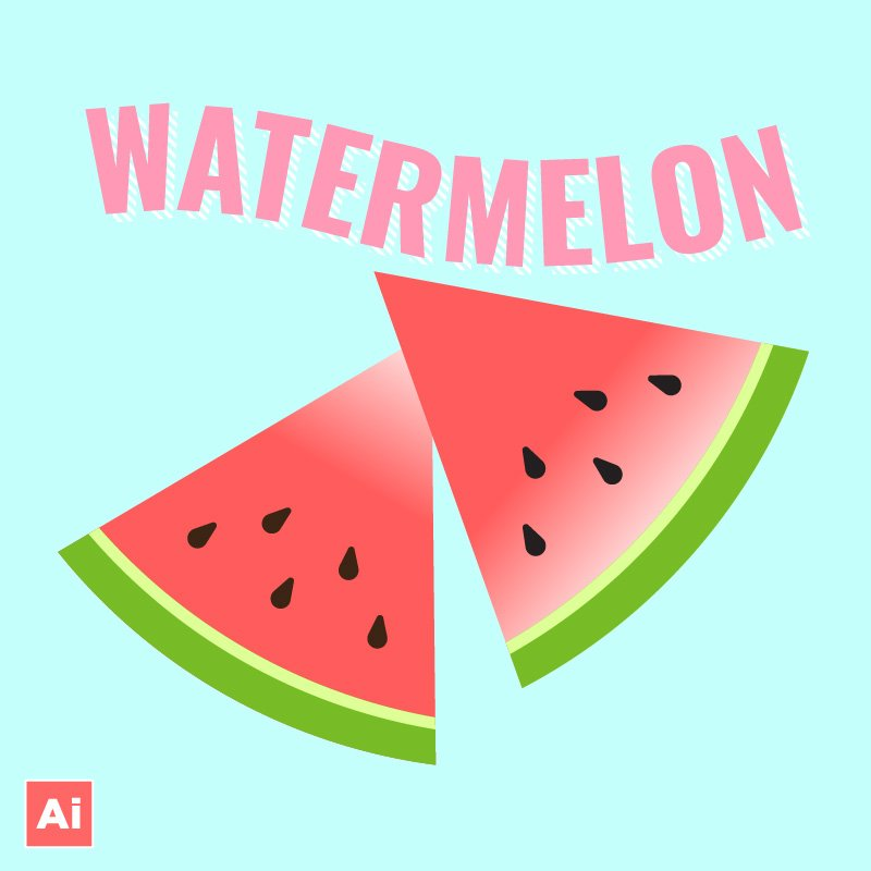 vector watermelon illustration tutorial