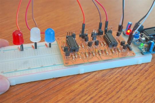Boldport Tap Sensor on Breadboard