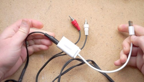 RCA cable to USB audio adapter