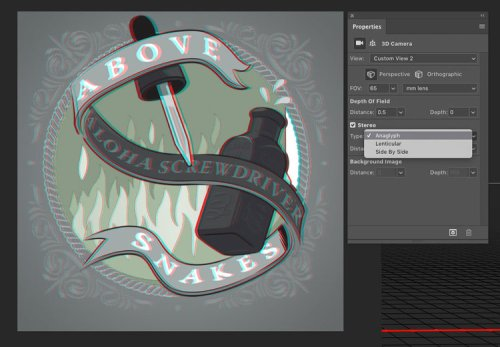 Designing 3D art in Photoshop