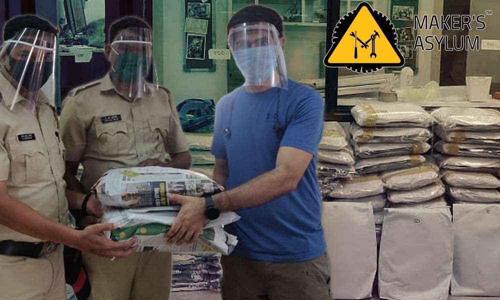 Read more about the article Corona Warriors: This Mumbai Group Is Manufacturing Affordable, Eco-Friendly Face Shields For Frontline Workers