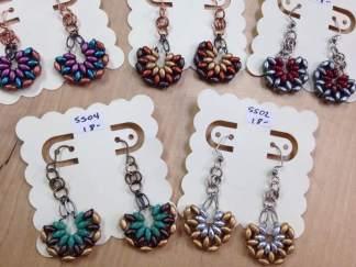 Half fan earrings many shanna