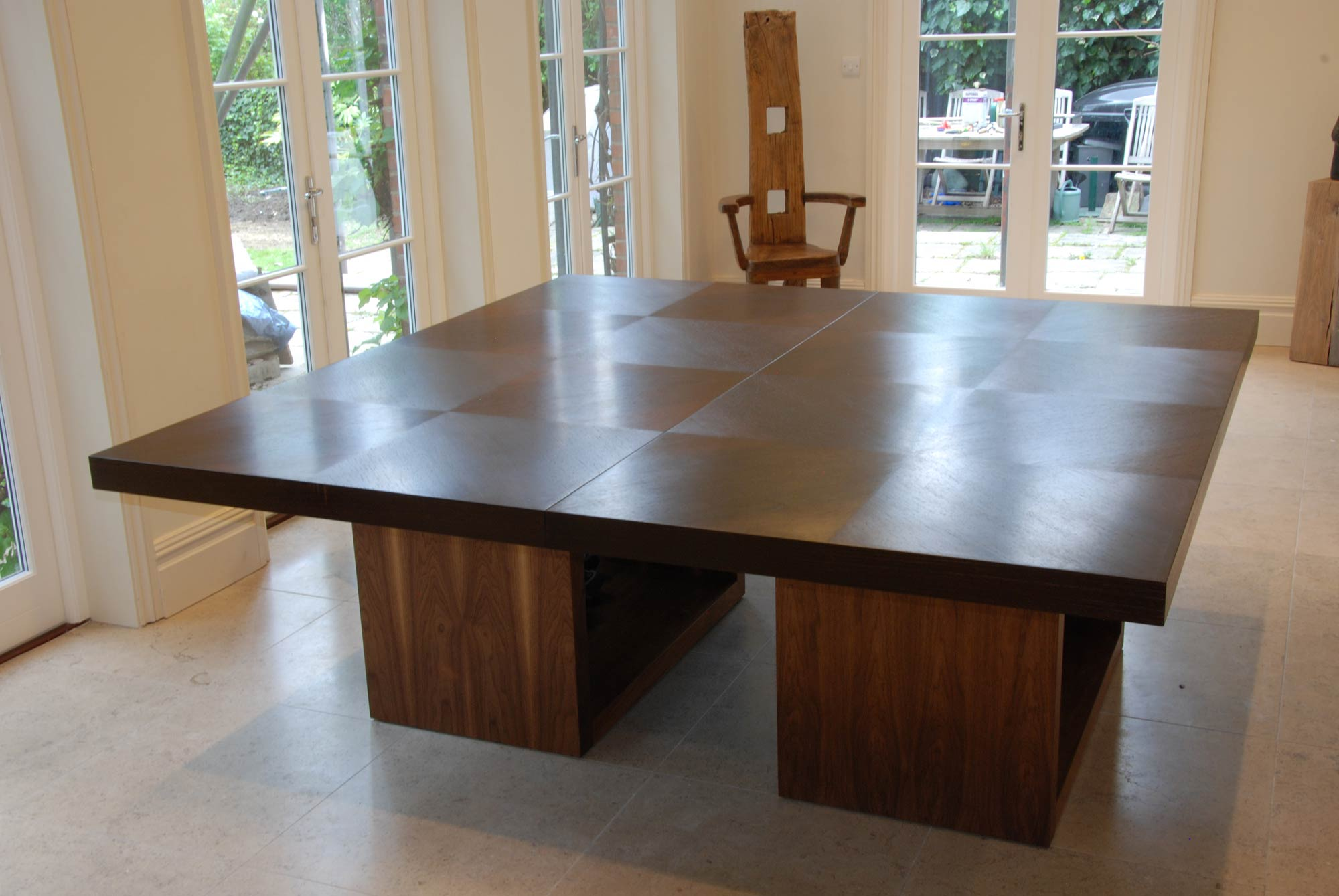 Dining Table In Wenge Amp Walnut Makers Eye