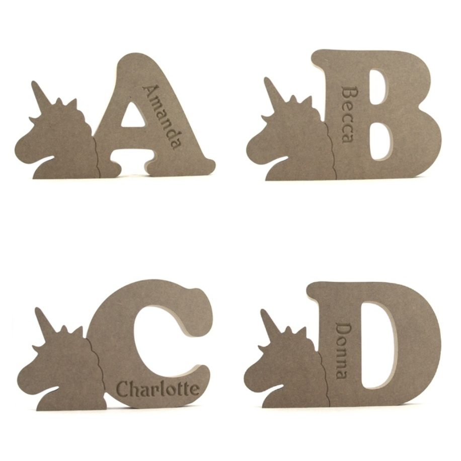 Unicorn Head Letters Makers Shed Custom MDF Craft