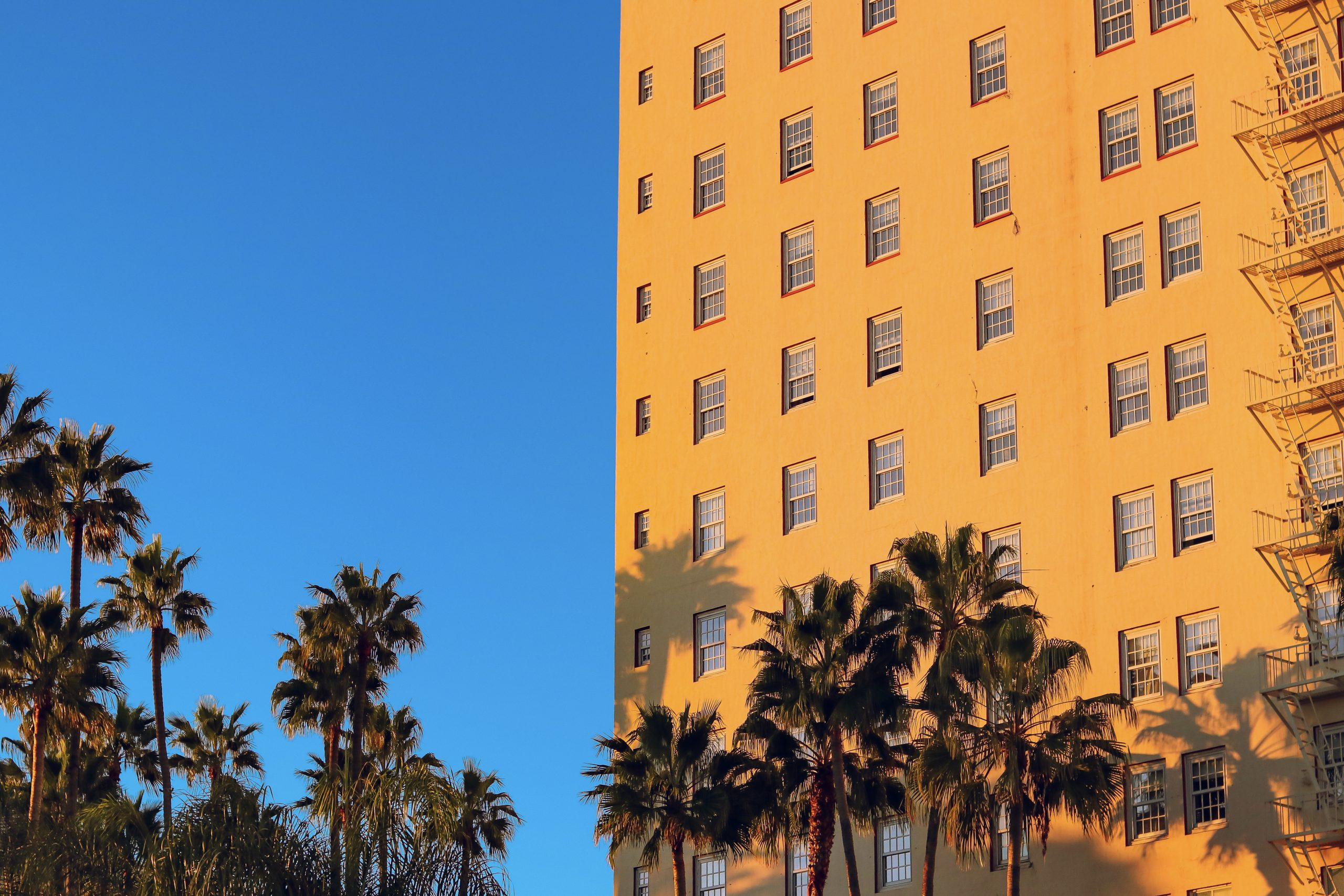 Yellow brick building, Los Angeles