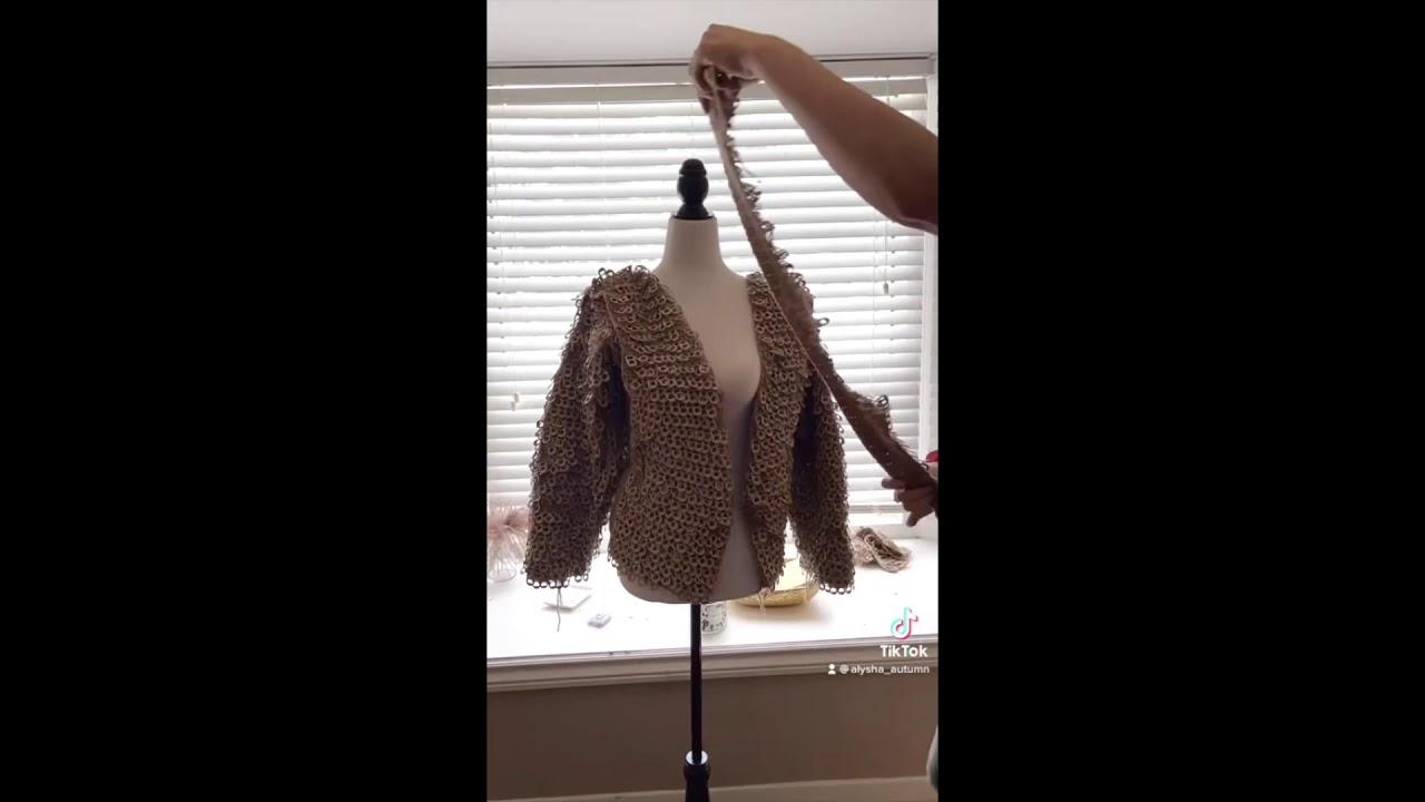 Creating the pop tab jacket/vest