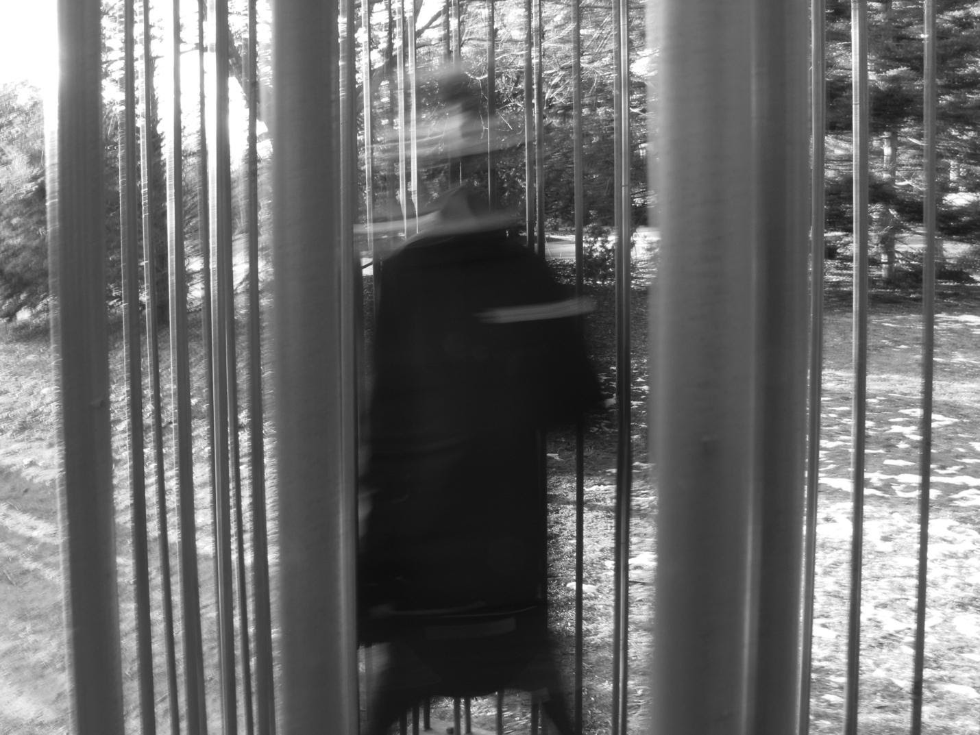 """""""Yes I'm Changing"""" - 04: Man Running Through Life-Size Cage. Ambiguous Space (55-57), Medium Long Shot (Bordwell and Thompson, 189)"""