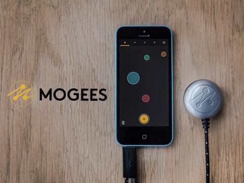 MOGEES - PICCOLO SENSORE CHE TRASFORMA QUALSIASI SUPERFICIE IN UNO STRUMENTO MUSICALE