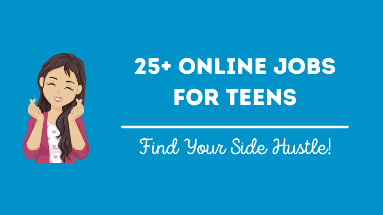 An image that says online jobs for teens