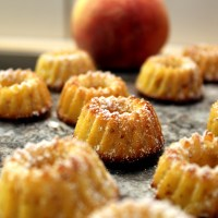 Peach and Honey Mini Bundt Cakes