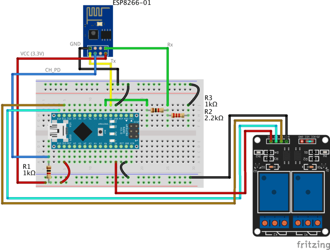 Iot Using Arduino And Esp8266-01 - Share Project