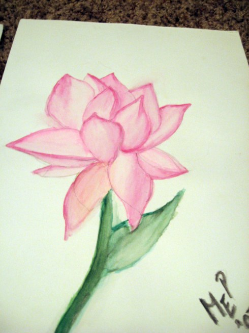 pink-watercolor-flower