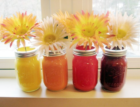 DIY Painted Mason Jar decor via Make Something Mondays