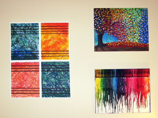DIY Abstract Wall Art via Make Something Mondays