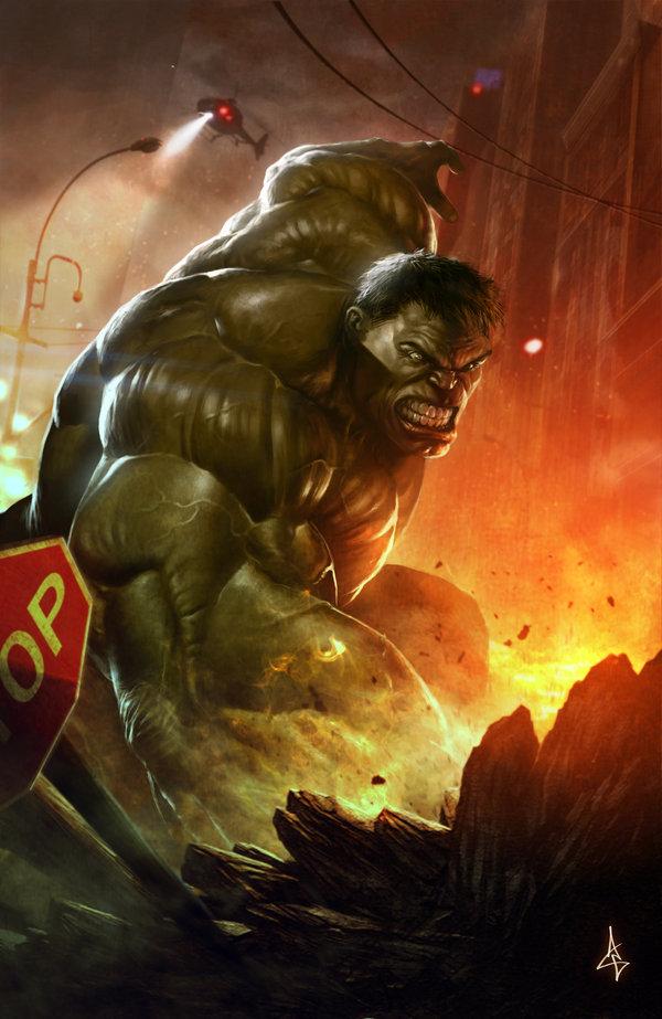 Hulk smash fan art