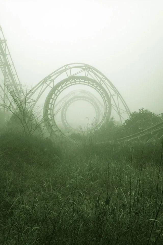 roller coaster left behind.