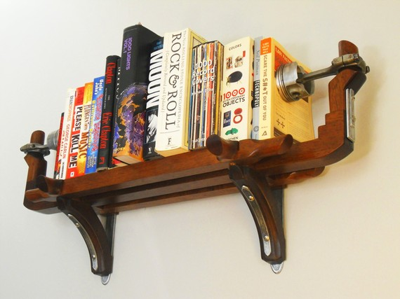 Piston book shelf