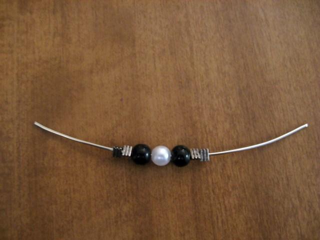 DIY Beaded Hoop Earrings Step 2