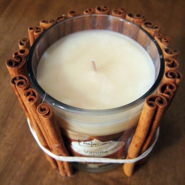 DIY Cinnamon Candle Fall Decor