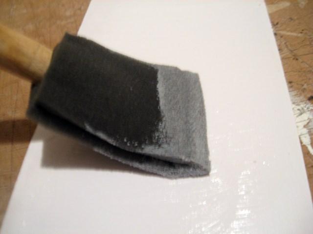 glue on scrapbook paper