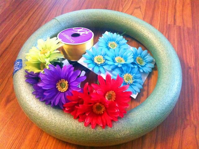 DIY wreath materials