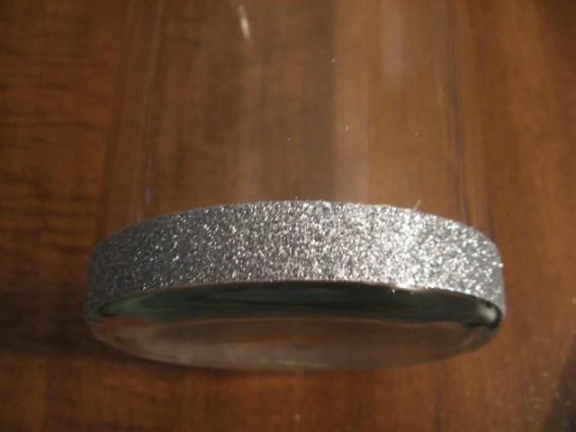 Glitter tape at bottom