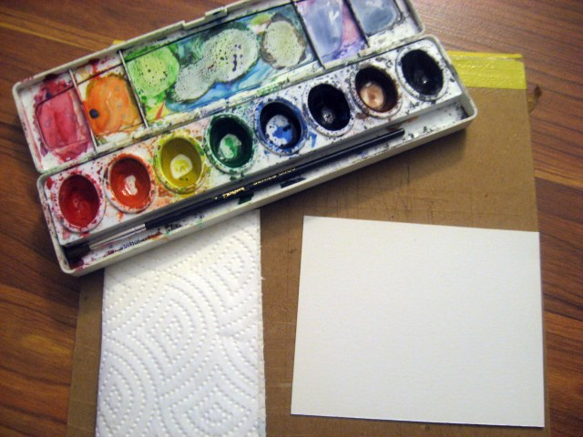 watercolor materials