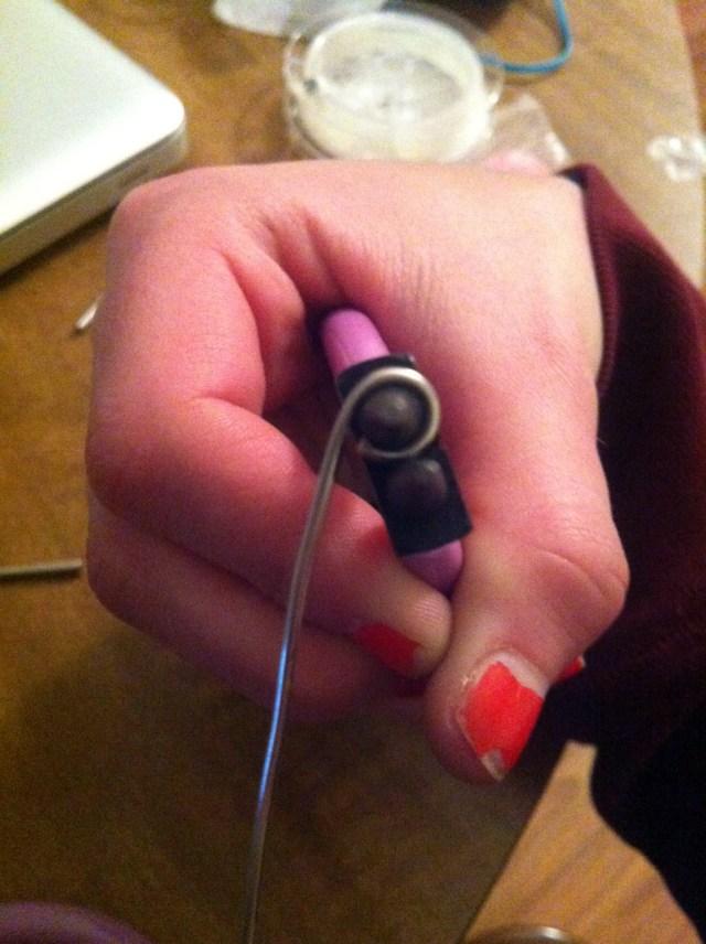 DIY beaded wire wrapped earrings