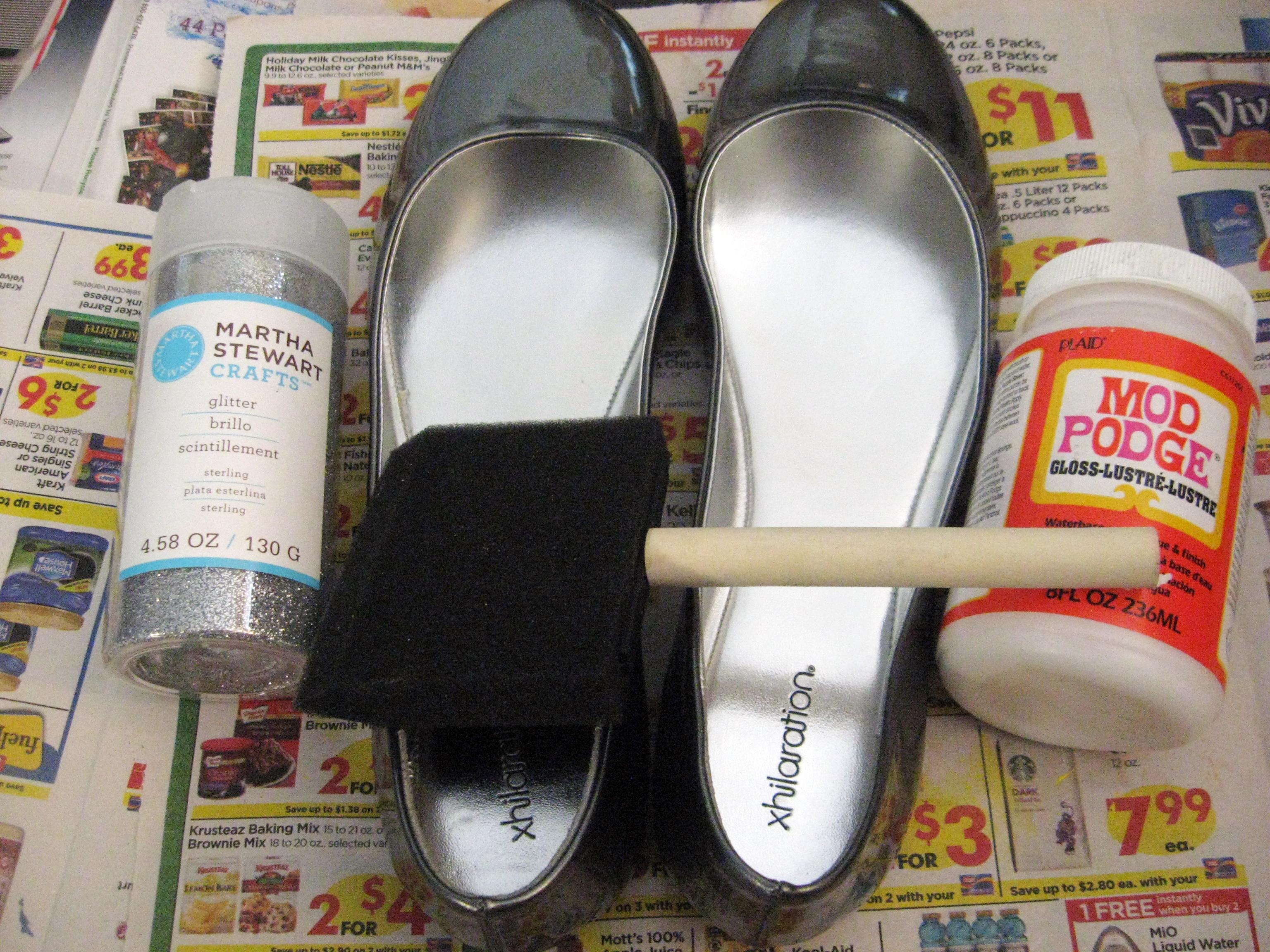 DIY Glitter Flats | Make Something Mondays