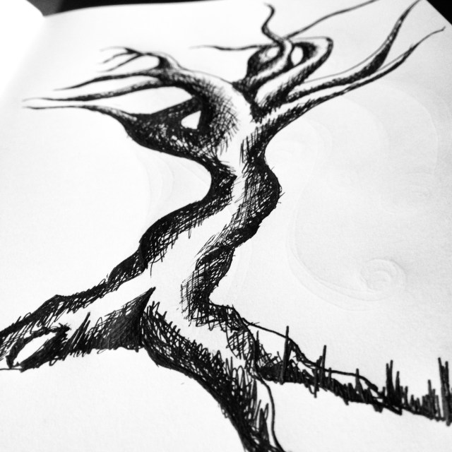 Tree pen sketch