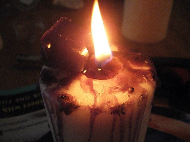 Candle wax for Halloween craft