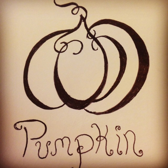 pumpkin drawing