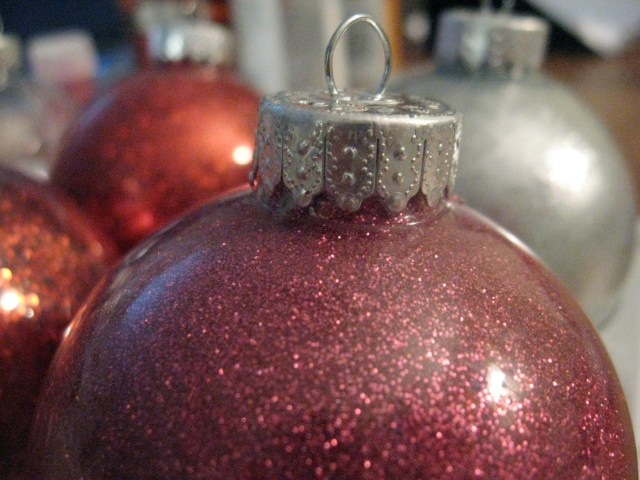glued top ornament