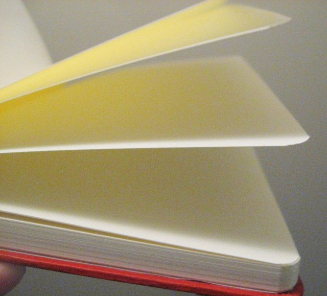 thick notebook pages