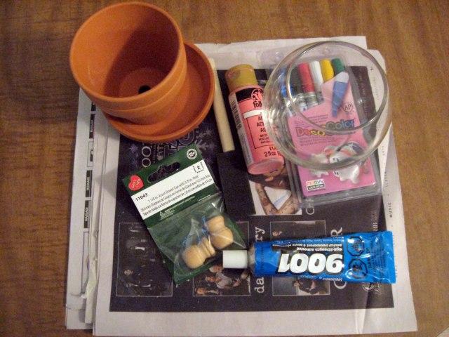 DIY candy jar materials