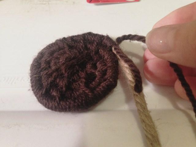 beginning yarn segment