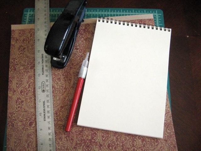 mini sketchbook materials