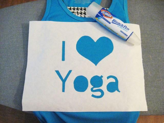 iron-on i love yoga design