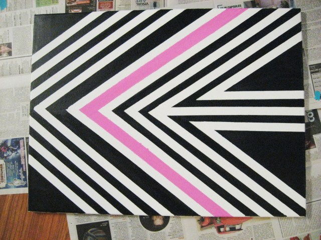 black pink wall art