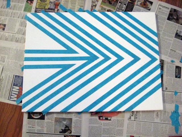 stencil tape art