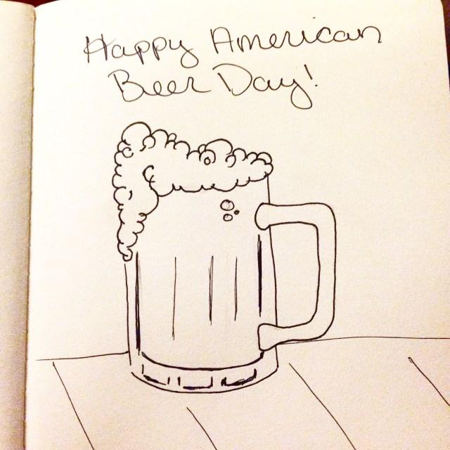 american beer day drawing inktober
