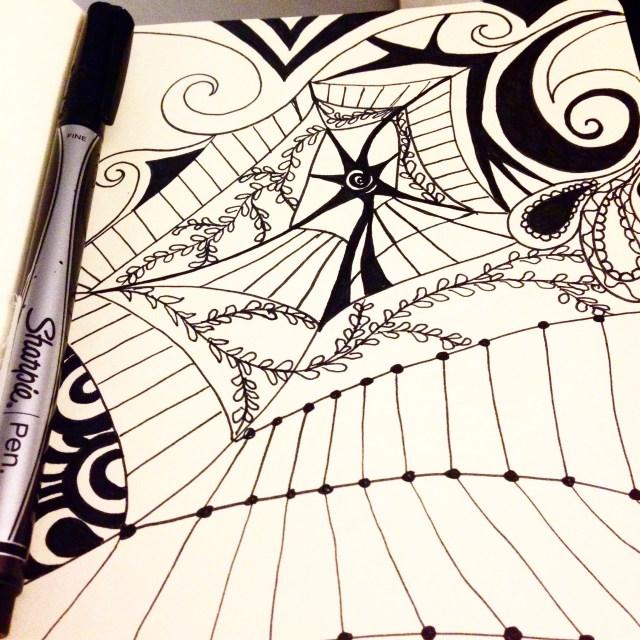 zentangle doodle inktober