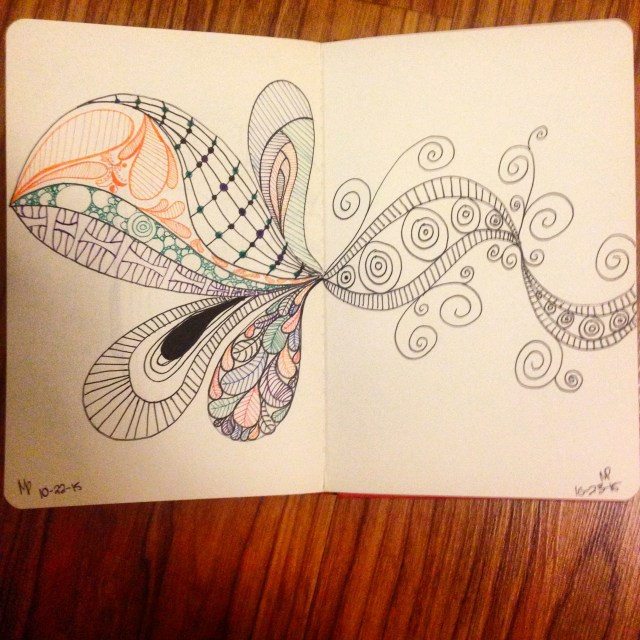 zentangle drawing inktober