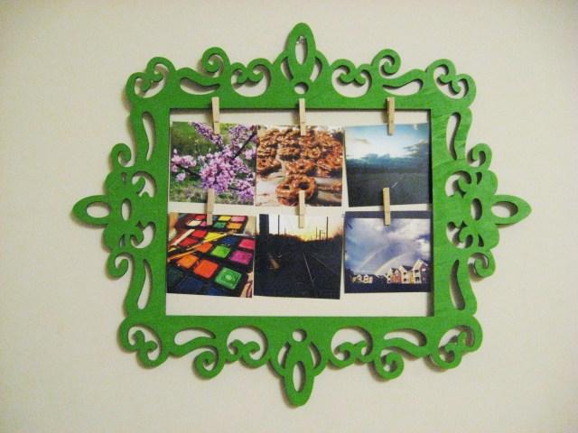 DIY decorative wood photo frame