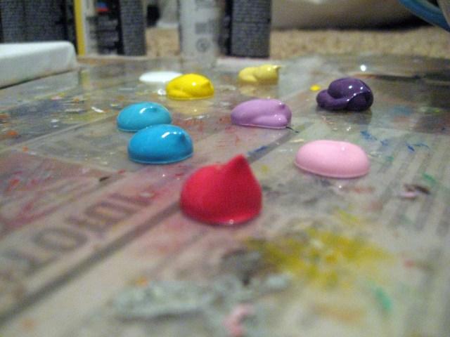 acrylic paint drops