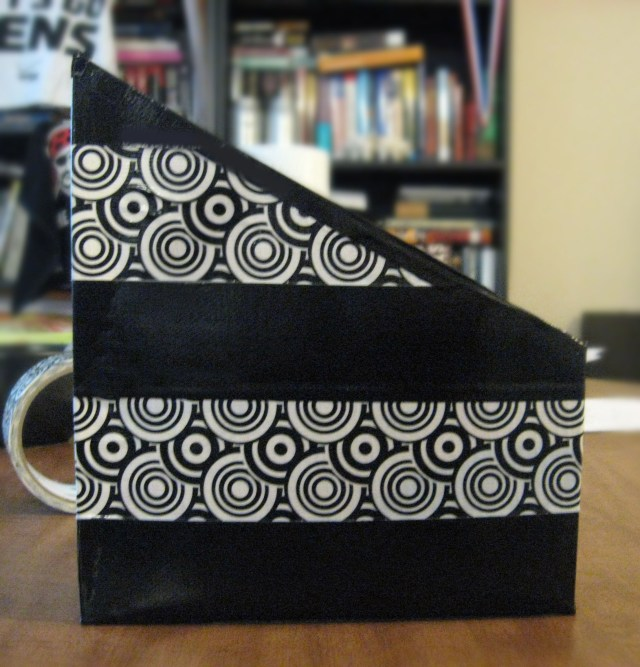 Desk organizer with Duct Tape
