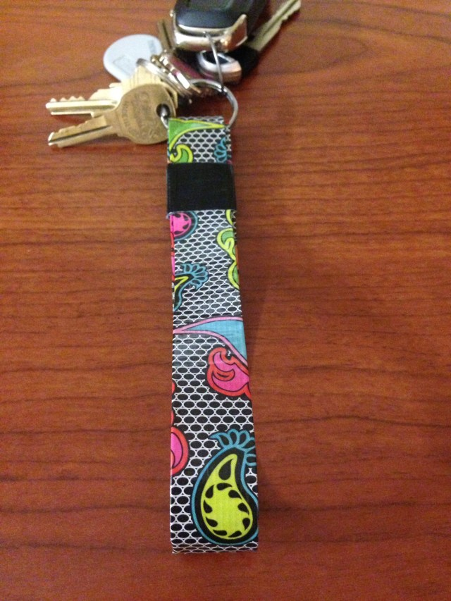 key lanyard made with duck tape