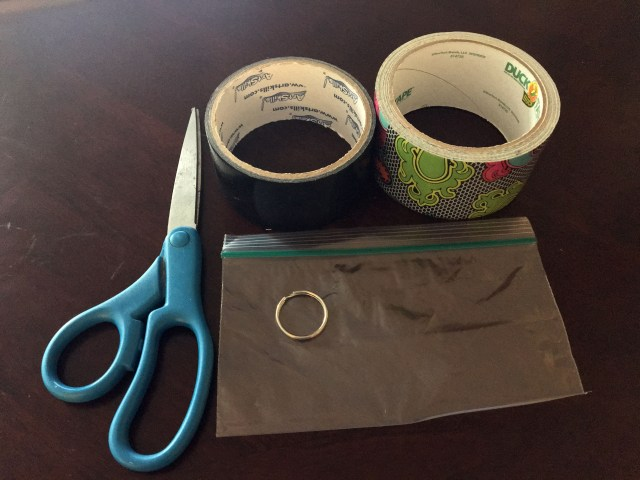 Materials to make a Duck Tape mini purse