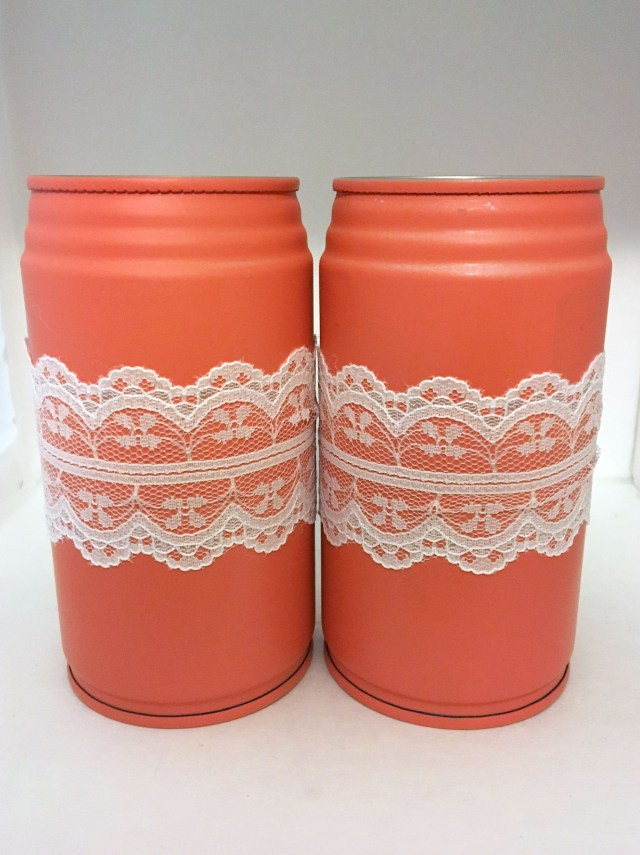 DIY upcycled soda cans